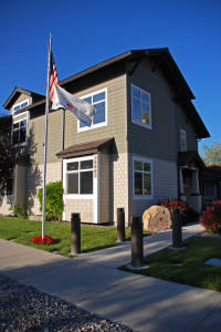 Veterans Guest House Front flag american flag monument sign Reno Nevada 880 Locust Street and Taylor St Architectural Photography SuePH