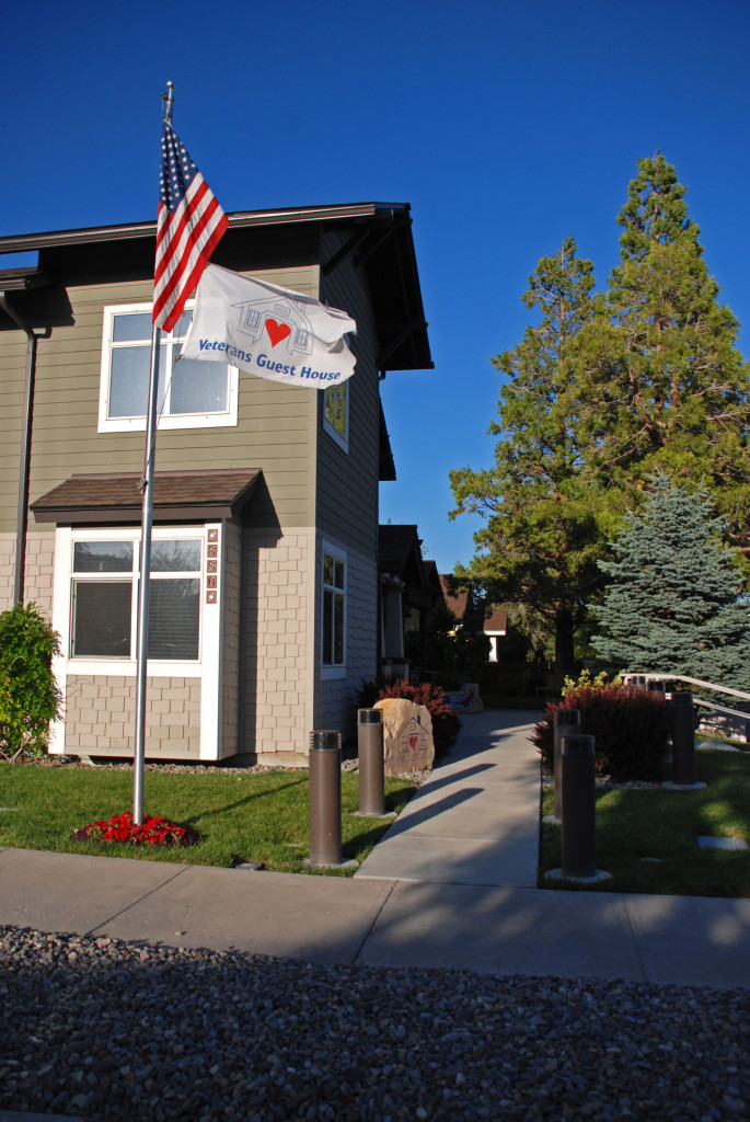 Veterans Guest House flag pole american flag monument sign Reno Nevada 880 Locust Street and Taylor St Architectural Photography SuePH
